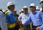 Bộ trưởng GTVT đi thị sát các dự án tại Hải Phòng
