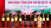 Hà Nội vinh danh 10 Công dân Thủ đô ưu tú năm 2017