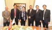 Chủ tịch Quốc hội Nguyễn Thị Kim Ngân gặp Chủ tịch IPU Saber Chowdhury