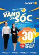 """Bảo Việt khuyến mại """"Giờ vàng giá sốc"""" tại Siêu thị tài chính Bảo Việt"""