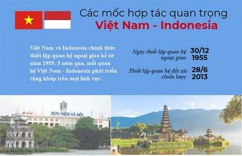infographic cac dau moc hop tac quan trong viet nam indonesia