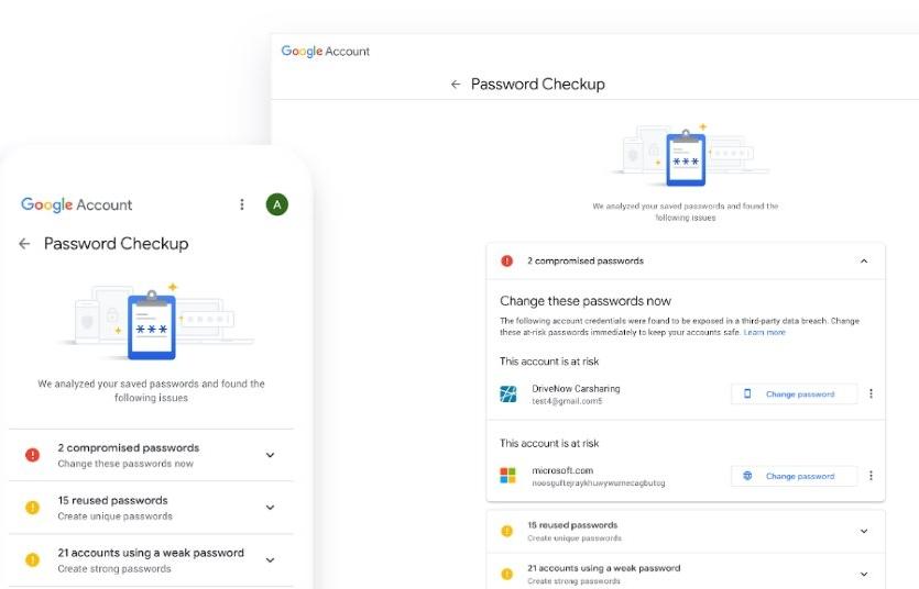google ra mat cong cu kiem tra mat khau password checkup