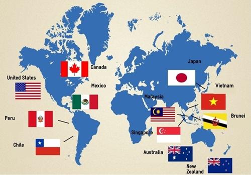 Image result for các nước thành viên của TPP