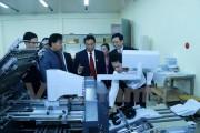 Bàn giao Xưởng in Nhà xuất bản và phát hành sách quốc gia cho Lào