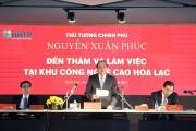 Khu CNC Hòa Lạc phải giải phóng mặt bằng xong trong năm 2017