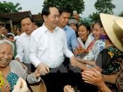 Chủ tịch nước thăm xã nông thôn mới Nghĩa Đồng, Nghệ An