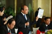 Thủ tướng Nguyễn Xuân Phúc gặp gỡ các tập đoàn thành viên WEF về kinh tế Việt Nam