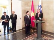 Bộ trưởng Vũ Huy Hoàng hội đàm với Bộ trưởng Bộ Phát triển Kinh tế và Công nghệ Xlôvenia