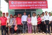 Vedan Việt Nam hỗ trợ 5 căn nhà chữ thập đỏ cho hộ nghèo
