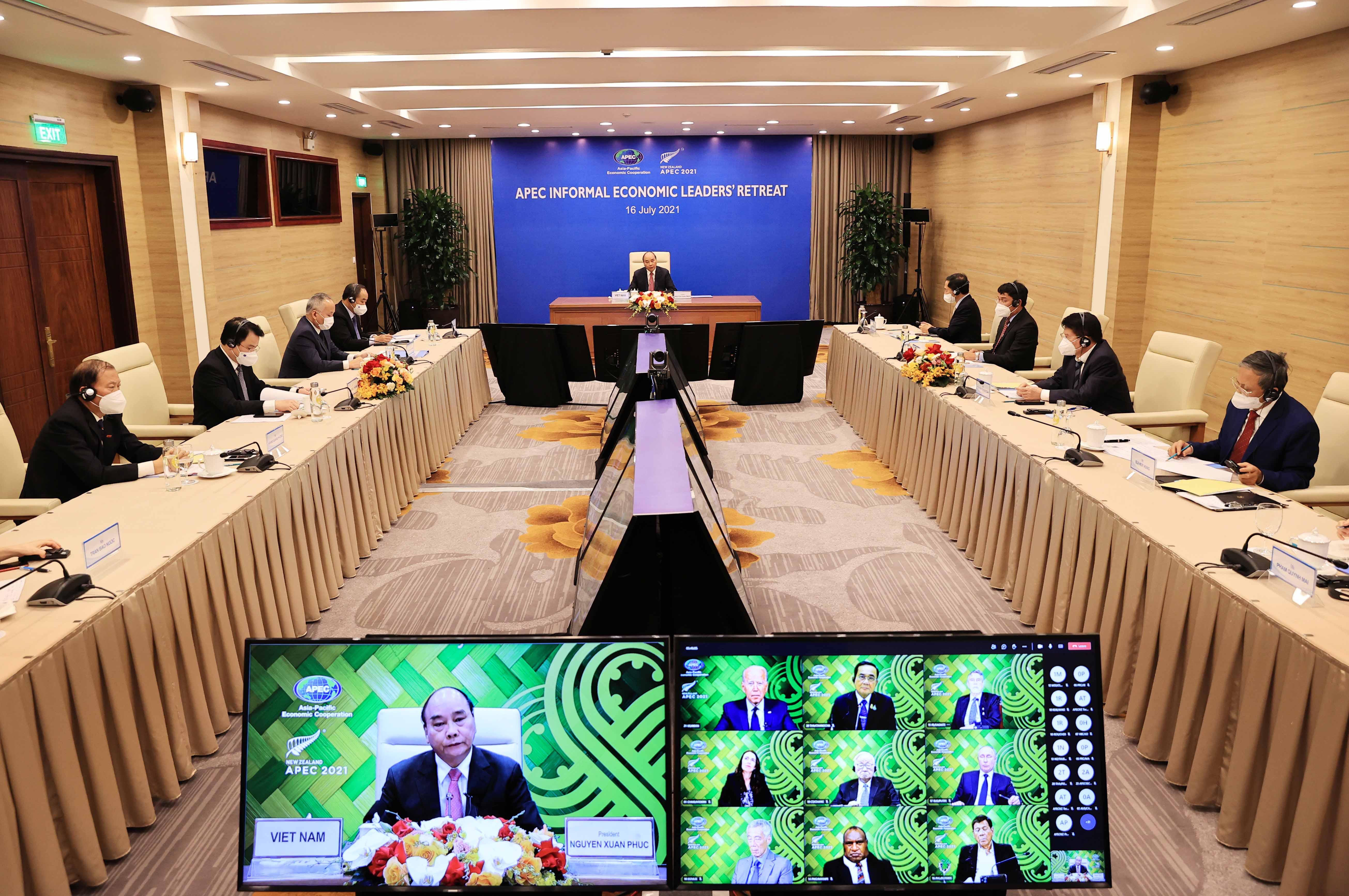 Các nhà lãnh đạo APEC tuyên bố vượt qua Covid-19 và thúc đẩy phục hồi kinh tế