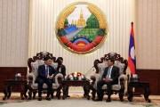 Bộ trưởng Trần Tuấn Anh chào xã giao Thủ tướng nước CHDCND Lào