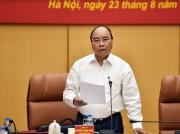 Thủ tướng chủ trì Hội nghị Ban Chỉ đạo Trung ương về khu vực phòng thủ năm 2017