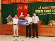 Agribank: Tài trợ công trình xây trường và tuyến giao thông nông thôn Hậu Giang