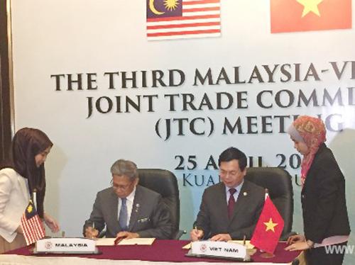 Kỳ họp lần thứ ba Ủy ban Hỗn hợp thương mại Việt Nam - Malaysia: Thảo luận nhiều vấn đề song phương