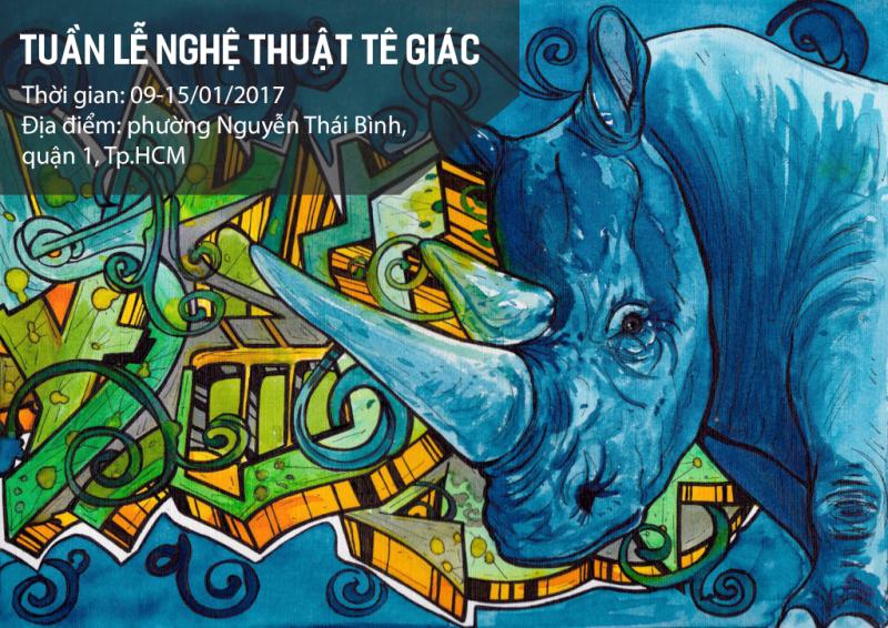 12 góc phố giữa Sài Gòn được nghệ thuật hóa thành thông điệp bảo vệ tê giác