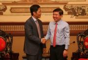 Bộ trưởng Trần Tuấn Anh gặp mặt và chúc Tết lãnh đạo UBND TP. Hồ Chí Minh