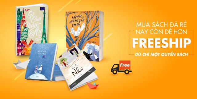 Tiki sẽ vận chuyển miễn phí cho bạn đọc mua sách