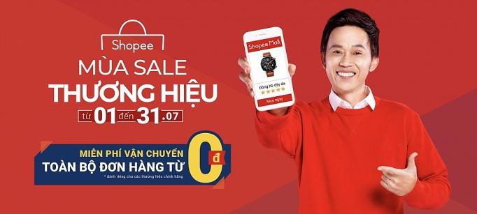 shopee mien phi van chuyen toan bo don hang tu 0 dong trong mua sale thuong hieu