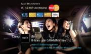 Đi Uber - thanh toán Mastercard sẽ có cơ hội dự lễ trao giải Grammy lần thứ 59