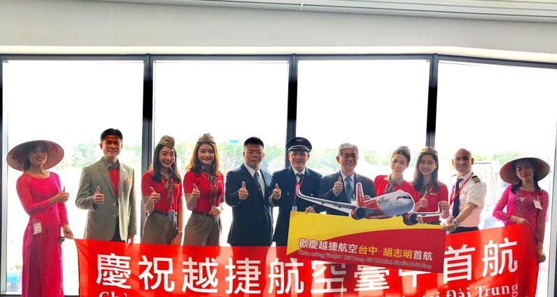 Vietjet mở đường bay TP. Hồ Chí Minh - Đài Trung (Đài Loan)