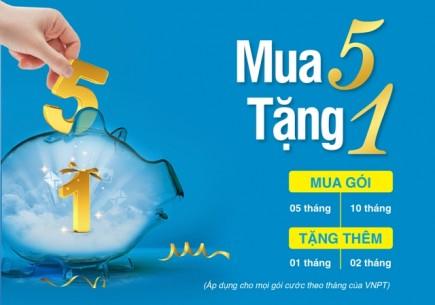 vnpt khuyen mai mua 5 tang 1 cho thue bao thang