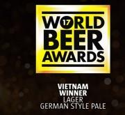 Sagota Larger chiến thắng hạng mục Country Winner tại sự kiện World Beer Awards 2017
