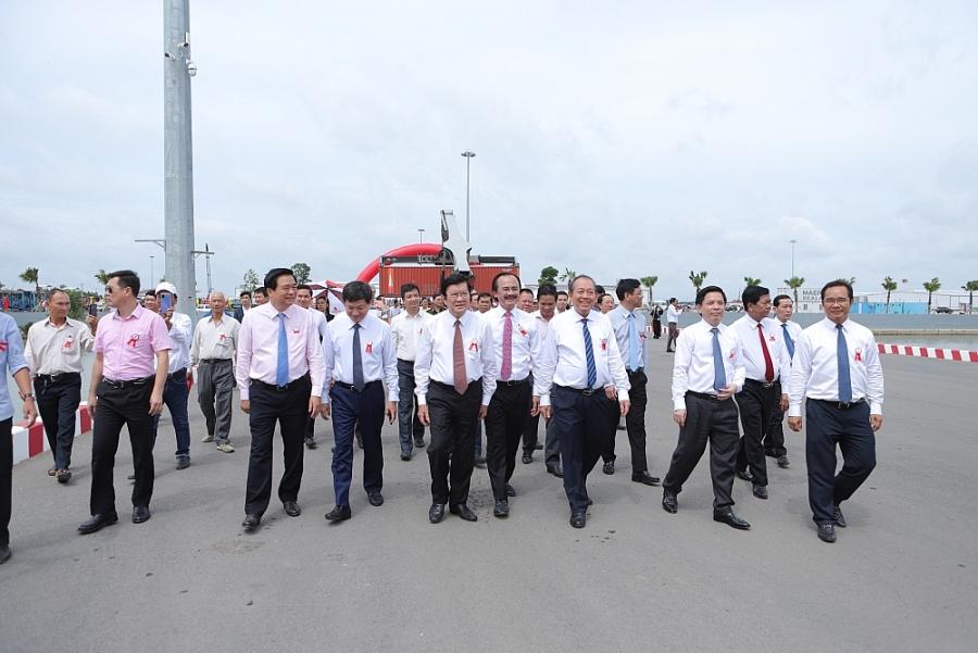Khánh thành giai đoạn I và khởi công giai đoạn II   Cảng quốc tế Long An