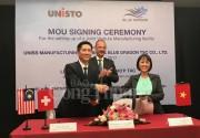 Unisto ký kết hợp tác với công ty Rồng Xanh xây dựng nhà máy tại Việt Nam
