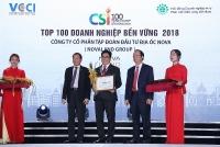 novaland duoc vinh danh trong top 100 doanh nghiep ben vung 2018