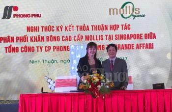 Phong Phú sản xuất khăn bông hữu cơ cao cấp Mollis Organic