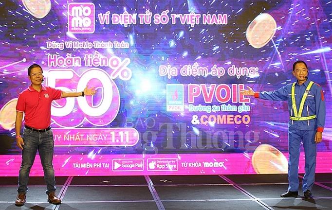 pvoil va comeco trien khai phuong thuc thanh toan dien tu bang ung dung vi momo