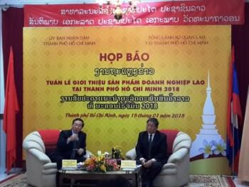Giới thiệu các sản phẩm Lào tới người dân TP. Hồ Chí Minh