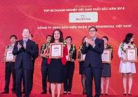 prudential viet nam lot top 50 doanh nghiep viet nam xuat sac nam 2018