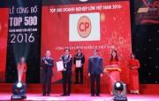 Công ty CP.Việt Nam đứng thứ 18/500 doanh nghiệp lớn nhất năm 2016