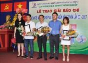 Phóng viên Báo Công Thương đoạt giải báo chí viết về Nông nghiệp