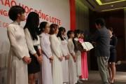 Tập đoàn LOTTE trao 154 suất học bổng cho sinh viên Việt Nam