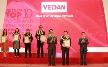 vedan vao top 10 doanh nghiep uy tin nganh thuc pham do uong 2018