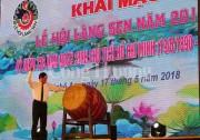 Khai mạc Lễ hội Làng Sen năm 2018: Dâng Người câu quê hương