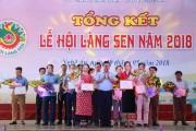 Tổng kết và trao giải Lễ hội Làng Sen năm 2018