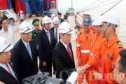 Phó Thủ tướng Vương Đình Huệ dự lễ vận hành mở cảng biển Vissai, đón tàu 7 vạn tấn