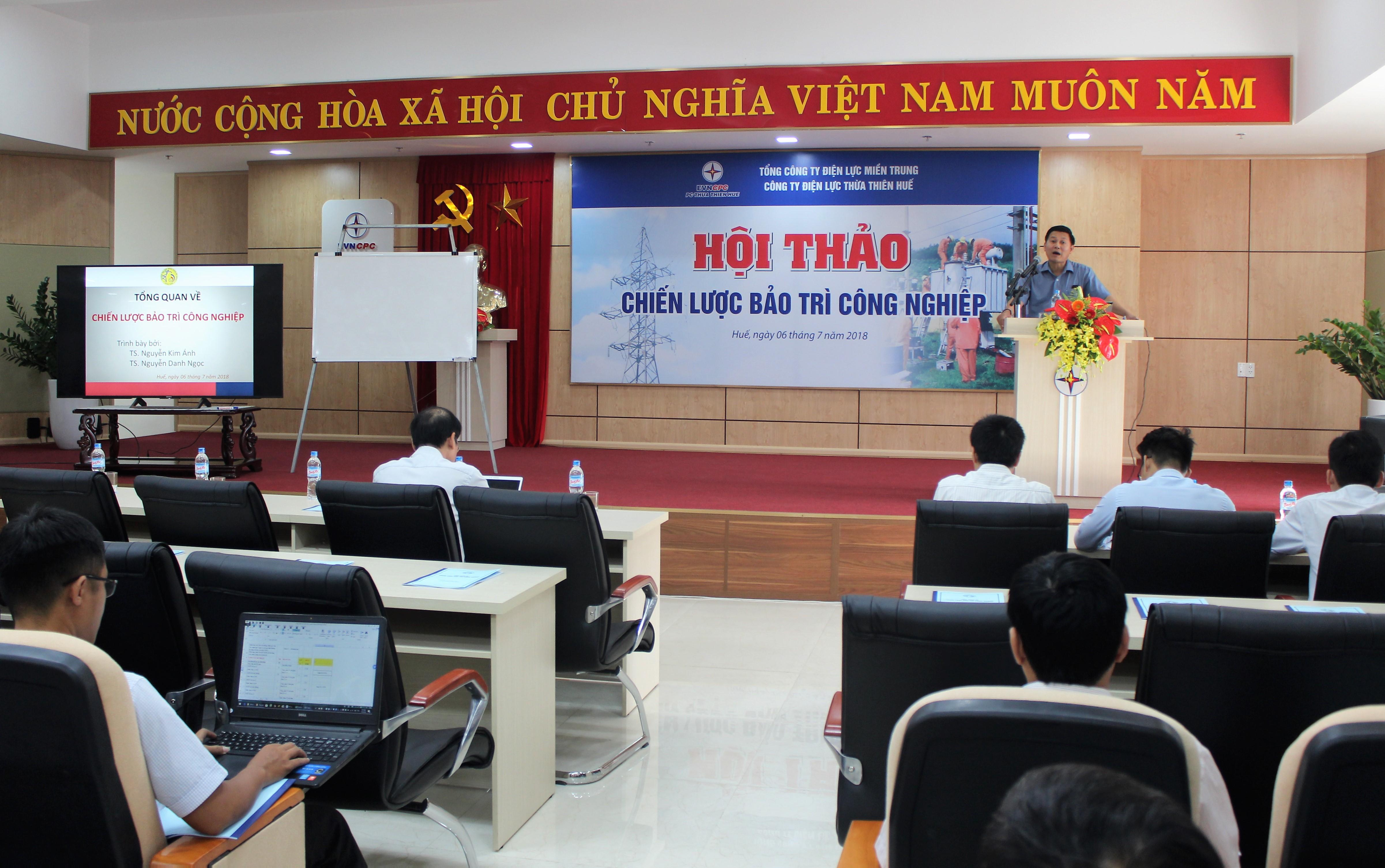 PC Thừa Thiên Huế tổ chức hội thảo Chiến lược bảo trì công nghiệp