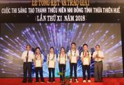 Trao 59 giải thưởng trong Cuộc thi sáng tạo Thanh thiếu niên Nhi đồng tỉnh Thừa Thiên Huế