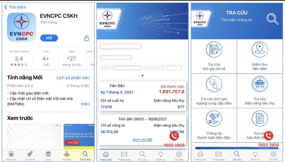 EVNCPC khuyến cáo khách hàng theo dõi hoá đơn tiền điện bằng App