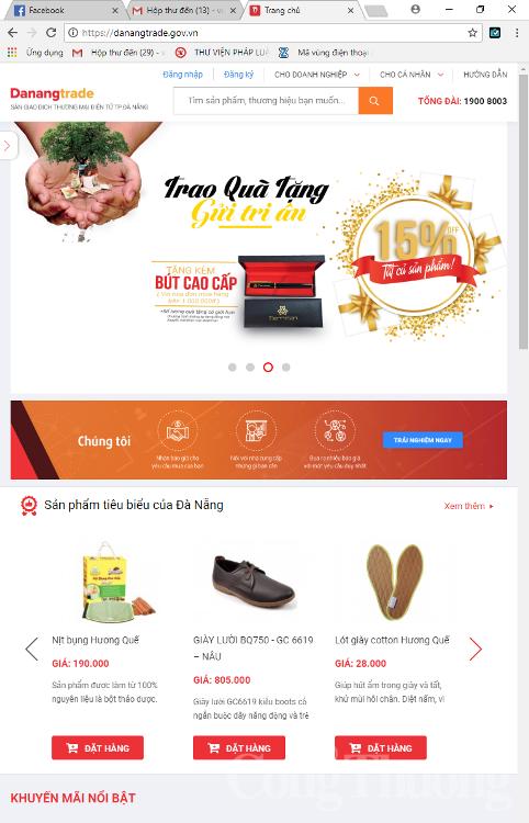 Ra mắt sàn giao dịch thương mại điện tử TP. Đà Nẵng