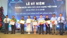 Trao giải báo chí Đà Nẵng 2017