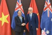 Thủ tướng Nguyễn Xuân Phúc hội đàm với Thủ tướng Australia Malcolm Turnbull