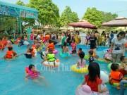 Mô hình công viên nước mi ni: Xu hướng mới thu hút trẻ em trong dịp hè