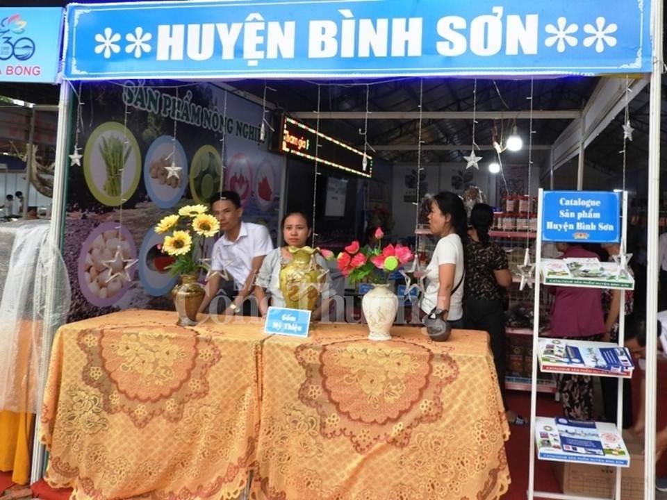 quang ngai san pham dia phuong chu dao tai hoi cho trien lam san pham nui an song tra nam 2019