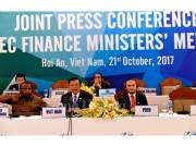 Bộ trưởng Tài chính APEC đã đạt được sự thống nhất về kết quả hợp tác