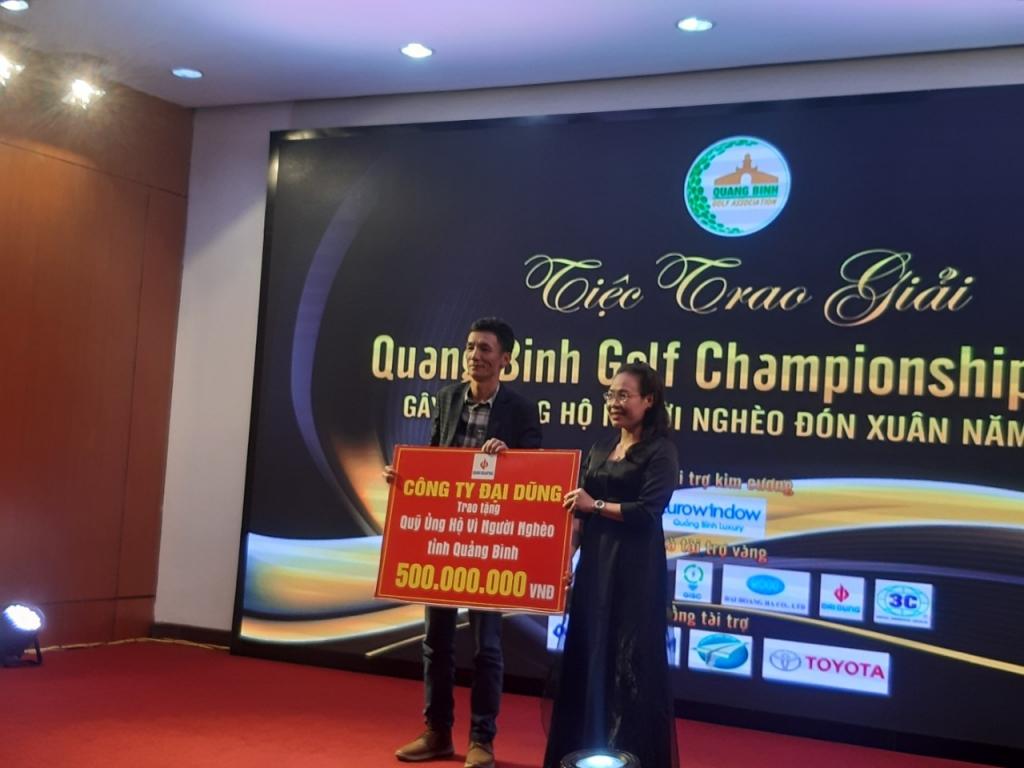 quang binh golf championship 2019 hon 3 ty dong duoc ho tro cho nguoi ngheo sau giai dau